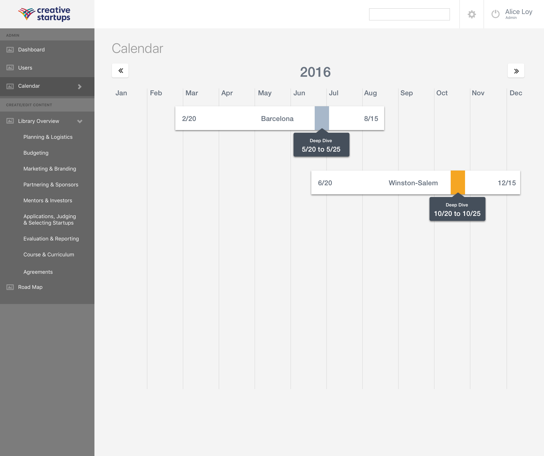 0.3 CS Master Admin - Calendar